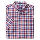 GANT Shirt Short Sleeve Poplin Twill Check - White