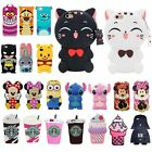 3D Animal Cartoon Soft Silicone Gel Rubber Cover Case For Sony C4 C5 T2 iPhone