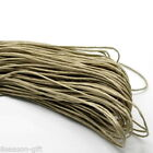 Wholesale Light Coffee Cord Wax Rope For Jewelry Bracelet Necklace DIY 1mm