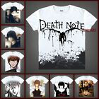 "Anime Death Note ""L""/Yagami Light/Misa Casual T-shirt Unisex Tee Tops#QM001"