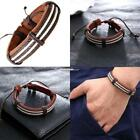 Chic Surfer Tribal MultiWrap Synthetic Leather Wrist Wax Rope Cuff Bracelet ES1