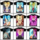 Anime Dragon Ball Goku/Vegeta Unisex T-shirt Short Sleeve Cosplay Tee#NNN-W45
