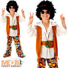 Peace Hippie Boys Fancy Dress 1960s 70s Kids Sixties Childs Hippy Costume Outfit