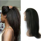 Pre Plucked 360 Lace Frontal Wig Italian Yaki Brazilian Human Hair Wig For Women