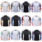 Mens Workout Compression Tops Running Basketball Jersey Tight Spandex T shirts