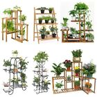 Large Size Metal/Wood Floor-Standing Pot Plant Stand Flower Planter Rack Display