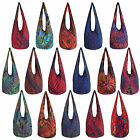 Cool Tie Dye Multicolour Hippy Hippie Gypsy Festival Shoulder Sling Bag - MEDIUM