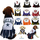 NFL Fan Gear Cheerleader Female Dog Dress for Pets Dogs - ALL TEAMS-PICK YOURS