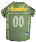NFL Fan Gear CAMOUFLAGE Army Shirt Dog Jersey for Dogs-PICK YOUR TEAM XS-XL