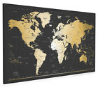 Time Zones Map of the World Box Canvas and Poster Print (959)