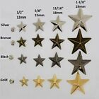 "Внешний вид - 10 Metal STAR 1/2"" to 1-1/8"" (12 to 29mm) RIVET Studs Leather 6mm post (1085)"