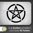 waf1327 - Pentagram Im Circle Wall Tattoo kiwistar - Sticker