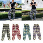 Women Harem Pants Thai India Boho Hippy Smock Waist Yoga Exercise Loose Trousers