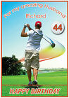 Personalised Golf Themed Birthday Card - Any name, age and relation - Amazing !