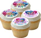 12 x 5cm *PRECUT* EDIBLE SHIMMER AND SHINE ICING CUPCAKE TOPPERS BIRTHDAY PARTY