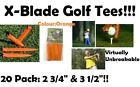Golf Tee Professional Tees Virtually Unbreakable, High Quality X-Blade Tees