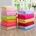 Micro Plush Fleece Blanket Super Soft Warm Throw Rug Sofa Bedding Solid Color image