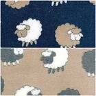 "Sheep Print - Cuddle Soft Coral Fleece Fabric 59"" (150cm) wide - per metre /half"
