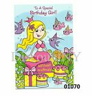 New Happy Birthday Card Greeting Card With Mermaid For Girl 01070-1