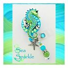 Sea Sparkle Seahorse ID reel Badge holder~Gorgeous Ultimate Bling Badge - Nurses