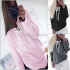 Women Lady Sweatshirt Long Sleeve Hoodie Sweater Fashion Casual Hooded Pullover