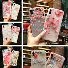 For iPhone XS Max XR X Frosted Scrub Relief Pattern Soft Rubber Gel Case Cover