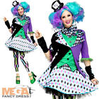 Mad Hatter Ladies Fancy Dress Tea Party Womens Book Character Adults Costume New