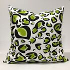 Chartreuse, Black and White Pillow Cover, Floral Pillowcase, Lumbar Pillow case