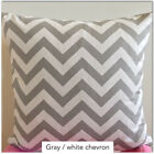 ZigZag Storm Twill Pillow Cover, Gray Chevron Pillowcase, Lumbar Case
