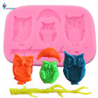 3D Owl Silicone Mold for Cake Candy Chocolate Decoration Fondant Mold Bakeware