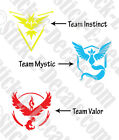 Pokemon Go Team Integrity Valor or Mystic Decal Sticker FREE USA SHIPPING!