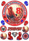 EDIBLE SPIDERMAN PERSONALISED PRECUT ICING 15CM CAKE TOPPER & 12 EXTRA's