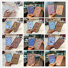 Cartoon Tempered Front Glass Film Screen Protector+Back Case For iPhone 6/7 plus