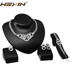 Fashion Women Wedding Bridal Costume Jewelry Sets Crystal Necklace Earring Sets