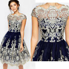 Summer Women Lady Short Lace Dress Prom Evening Party Cocktail Wedding Dresses
