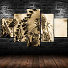 Native American Wall Art Photo Home Decor Canvas Print HD Indian Chief Costume 5