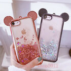 For iPhone 6/6S/7 Plus Cute Mickey Bling Dynamic Liquid Giltter Soft Case Cover