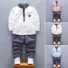 2pcs Toddler Baby Boys Kids soft Shirt Tops+Long Pants Clothes party Outfits Set