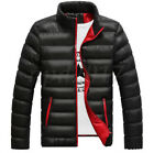 Men Warm Cotton Padded Down Coat Winter Slim Thick Casual Outerwear Jacket
