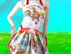 Rainbow Brite Apron Retro Ruffle Vintage Fabric Dinner Party Hostess Kawaii