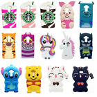 3D Animal Cartoon Soft Silicone Gel Rubber Cover Case For Moto G4 G5 Huawei P10