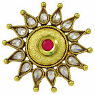 Traditional Kundan Polki Stone Women Adjustable Ring Party Jewely-KR26