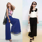 Womens High Waist Wide Leg Long Loose Pants Palazzo Casual Trousers GIFT