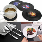 Frost Stainless Steel Flatware + Set of 6 Drink Coasters Vinyl Record Retro Mats