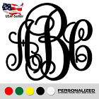 "2"" up to 26"" Monogram Monograma Custom Decal Sticker Yeti Wall Car Initials #7"