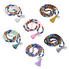 7 Chakra Yoga Meditation Prayer 108 Beads Gemstones Mala Bracelet Necklace Hot