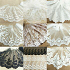 Floral Embroidered Cotton Lace Edge Trim Fabric Tulle Mesh Craft Vintage Sew Net