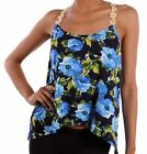 T Back Daisy Chain Tank Top Floral Print(S-M-L)