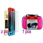 Nintendo Switch Hard Travel Carrying Bag / Case+ Tempered Glass Screen Protector