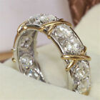 White Sapphire 925 Sterling Silver Band Rings Women Men Wedding Jewelry Sz5-11